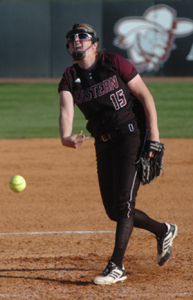 Leanna Pittsenbarger would combine for 10.1 innings pitched and 15 strikeouts on Friday against Murray State.