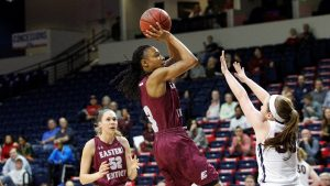 A'Queen Hayes was chosen first-team All-Ohio Valley Conference