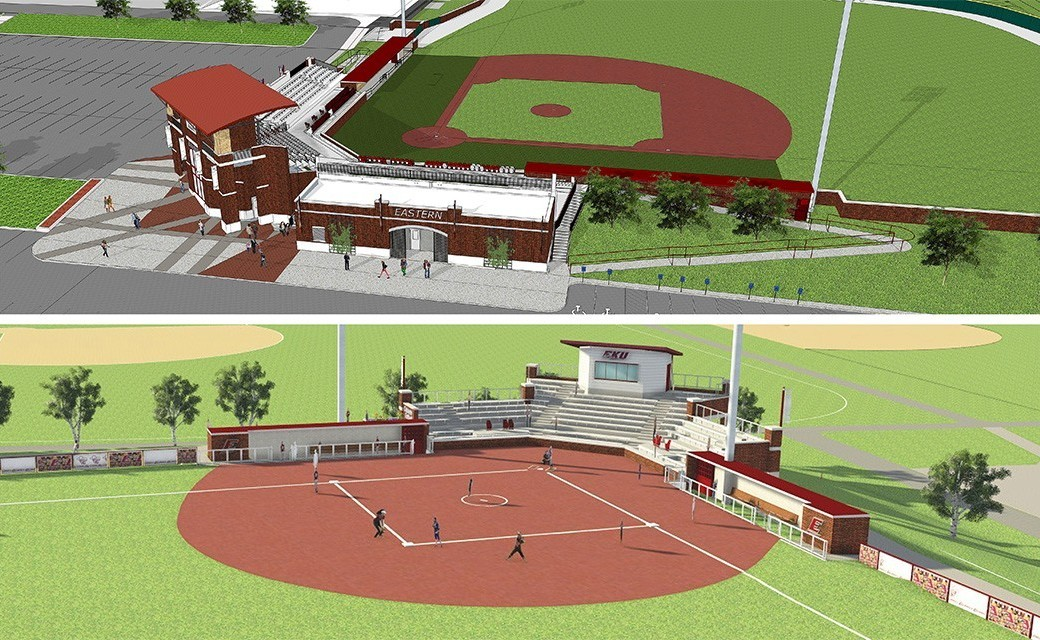 Renovations Begin For EKU Baseball & Softball Stadiums