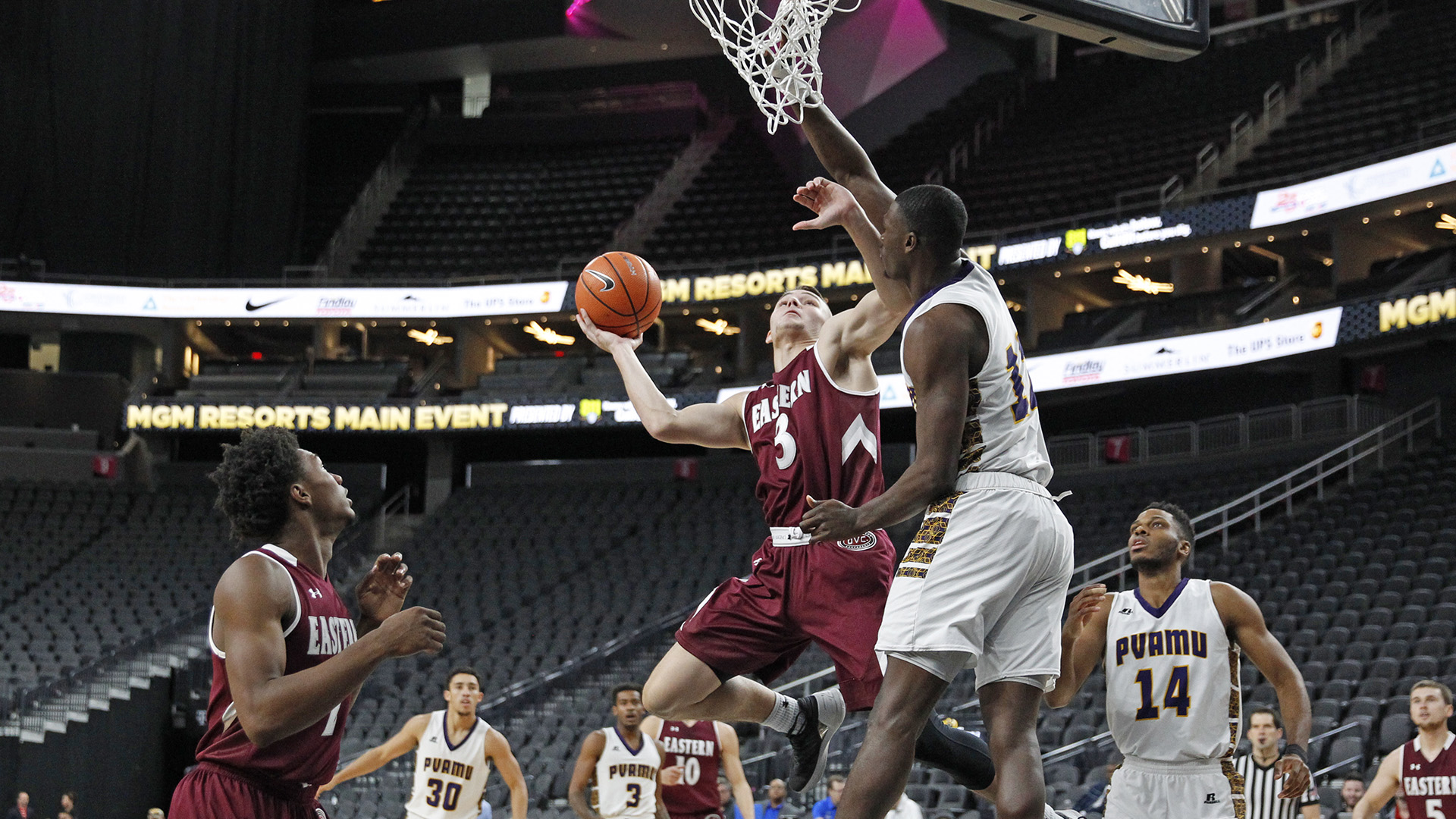 EKU Falls to Prairie View A&M, 80-70, in MGM Resorts Main Event