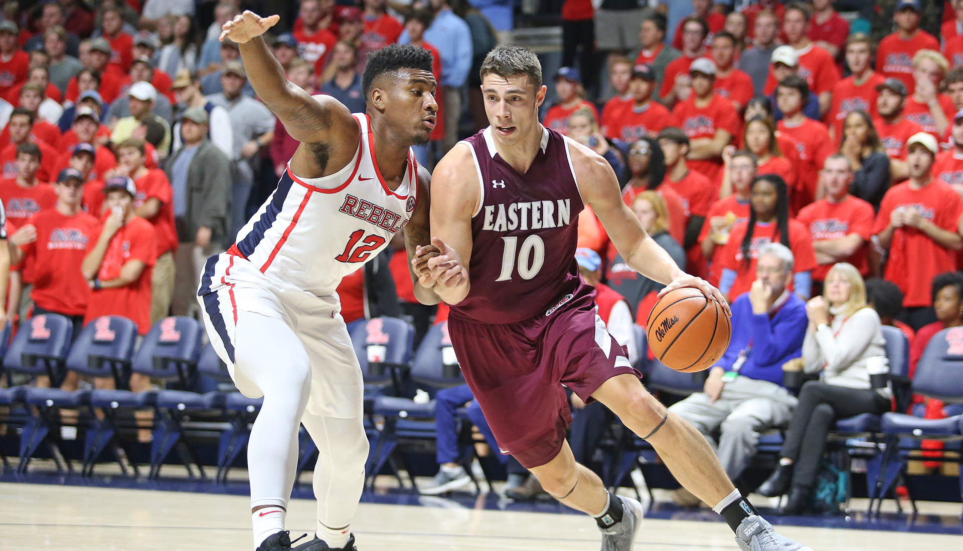 Mayo's Double-Double Not Enough in EKU's 85-75 Loss at Ole Miss