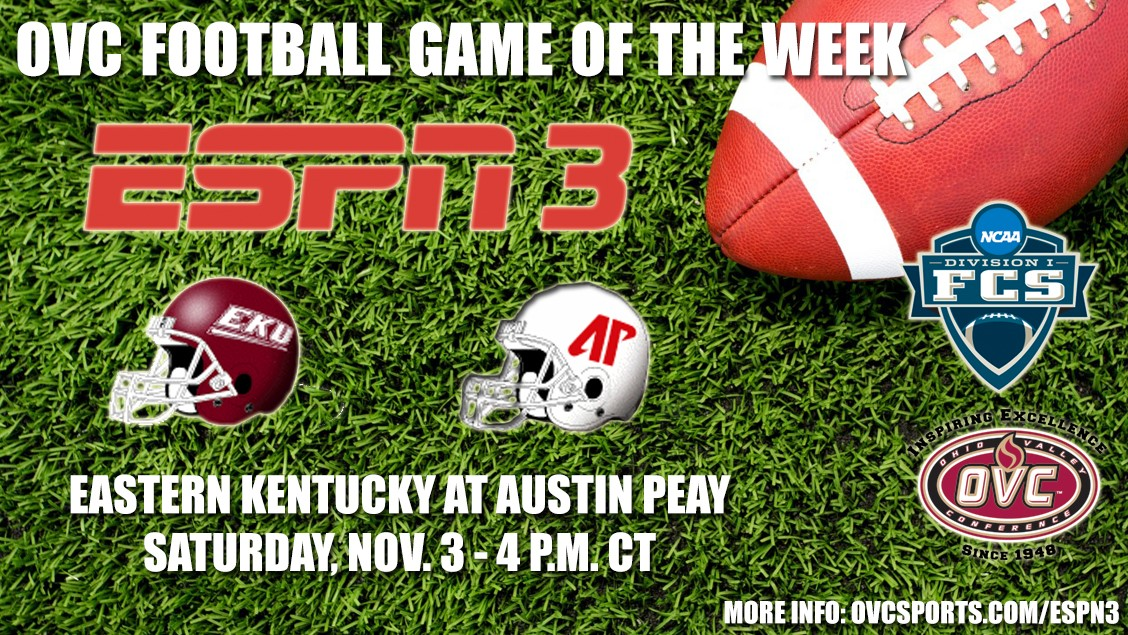 Colonels football game with APSU to be OVC Game of the Week