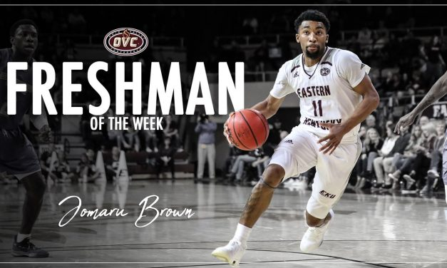 Jomaru Brown Closes Out Season with OVC Freshman of the Week Honors