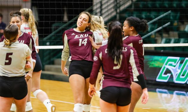 EKU Volleyball Opens 2019 Season With Split At Charlotte Invitational